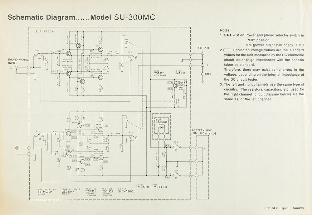 Technics SU-300 MC Schaltplan / Serviceunterlagen | Sonstiges ...
