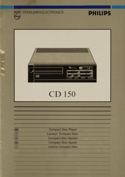 Philips CD 150 Bedienungsanleitung
