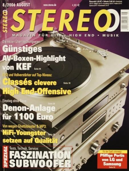 Stereo 8/2006 Zeitschrift
