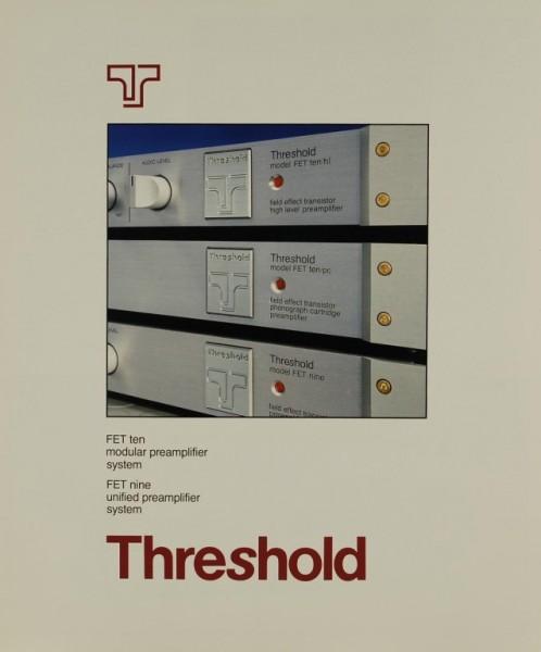 Threshold FET ten / FET nine Prospekt / Katalog