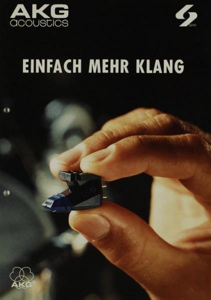 AKG acoustics Die S Serie Prospekt / Katalog