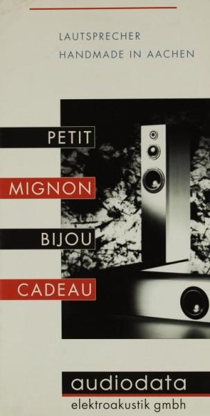 Audiodata Elektroakustik gmbh Petit / Mignon / Bijou / Cadeau Prospekt / Katalog