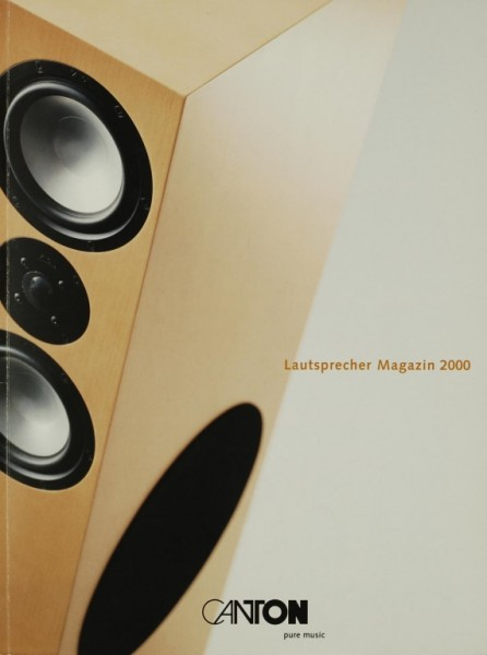 Canton Lautsprecher Magazin 2000 Prospekt / Katalog