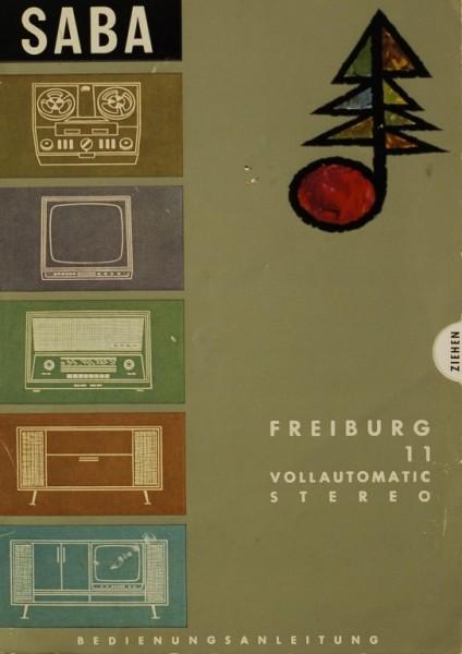 Saba Freiburg Vollautomatic 11 Stereo Bedienungsanleitung