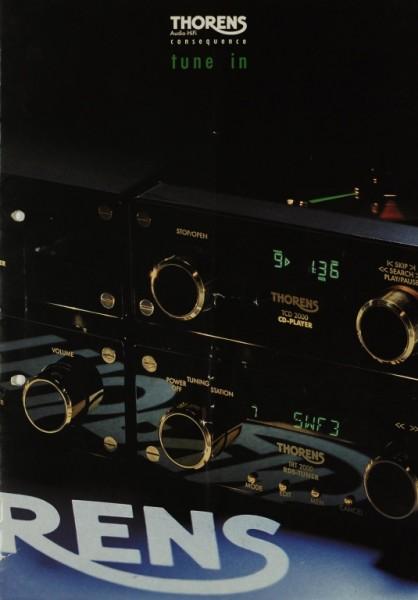Thorens Tune in - TCD / TTA / TTP / TRT 2000 Prospekt / Katalog