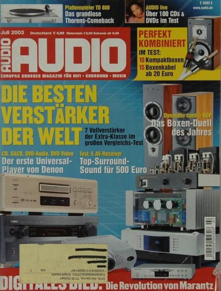 Audio 7/2003 Zeitschrift