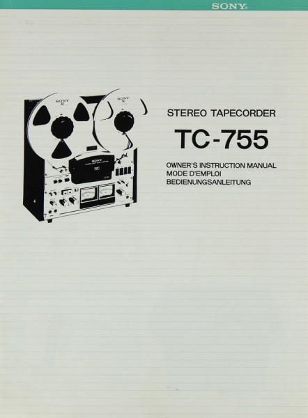 Sony TC-755 Bedienungsanleitung