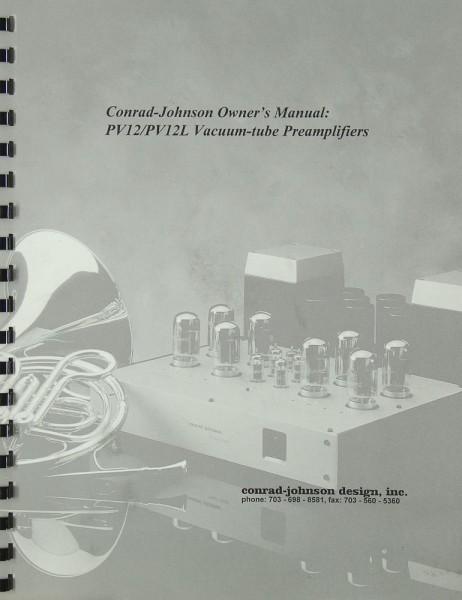 Conrad-Johnson PV 12 / PV 12 L Bedienungsanleitung