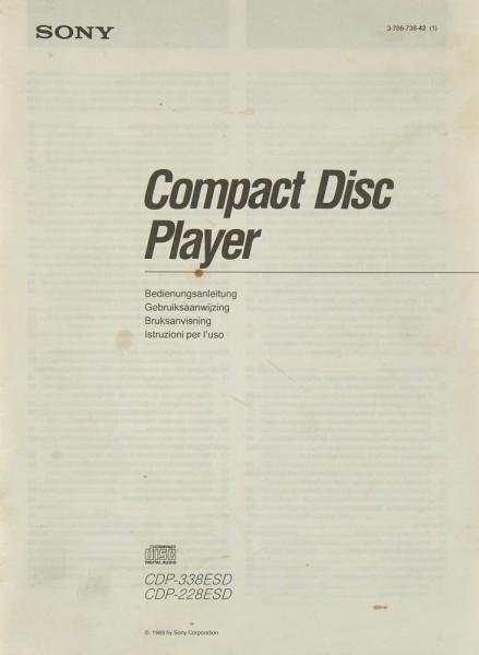 Sony CDP-338 ESD / CDP-228 ESD Bedienungsanleitung