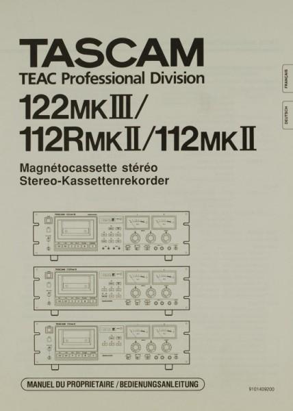 Tascam 122 MK III / 112 R MK II / 112 MK II Bedienungsanleitung