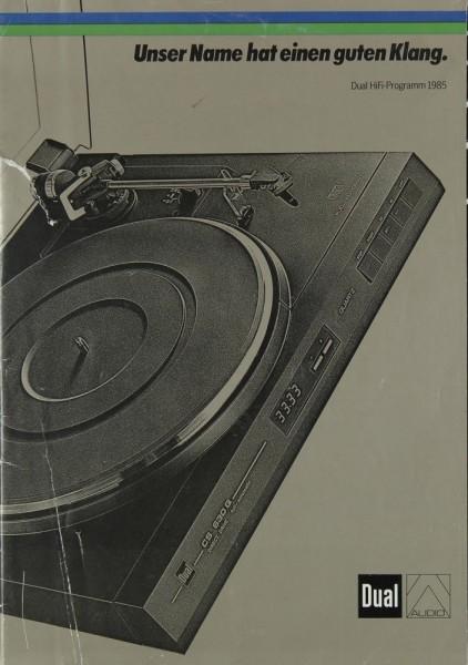 Dual Lieferübersicht 1985 Prospekt / Katalog