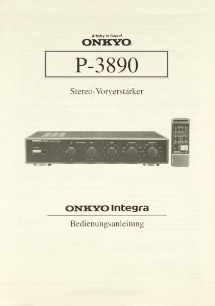 Onkyo P-3890 Bedienungsanleitung