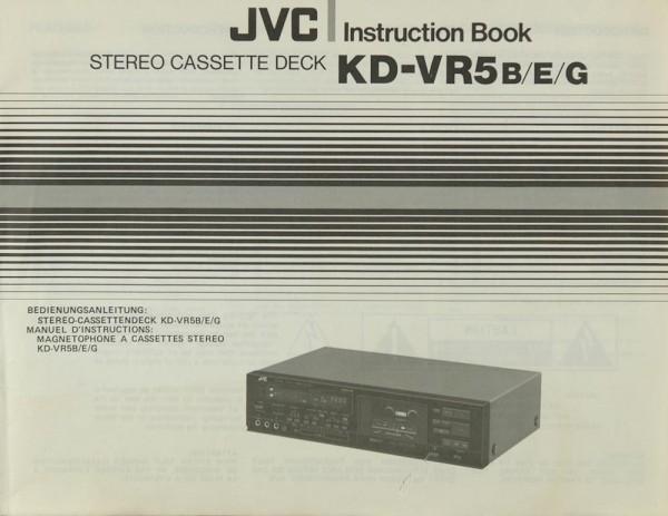 JVC KD-VR 5 B/E/G Bedienungsanleitung