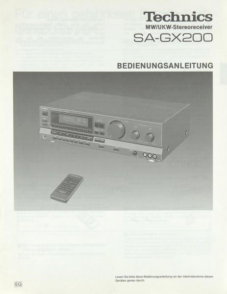 Technics SA-GX 200 Bedienungsanleitung