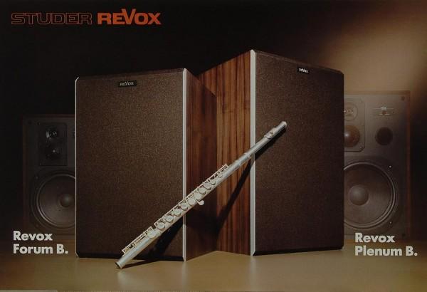 Revox Forum B / Plenum B Prospekt / Katalog