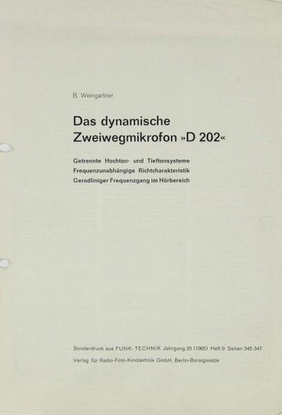 AKG D 202 Bedienungsanleitung