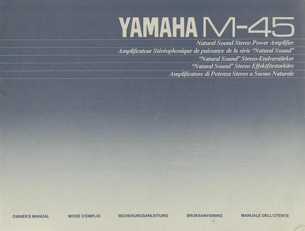 Yamaha M-45 Bedienungsanleitung