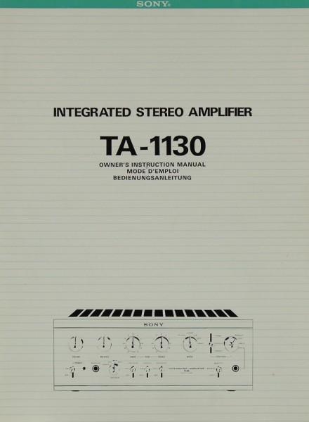 Sony TA-1130 Bedienungsanleitung
