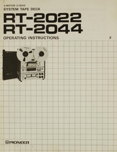 Pioneer RT-2022 / RT-2044 Bedienungsanleitung