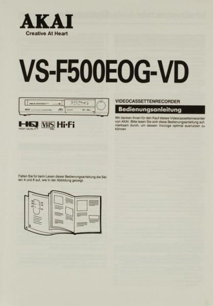 Akai VS-F 500 EOG-VD Bedienungsanleitung