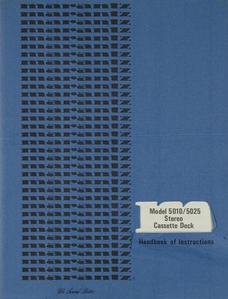 Marantz 5010 / 5025 Bedienungsanleitung