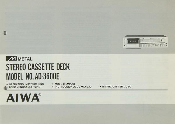 Aiwa AD-3600 E Bedienungsanleitung