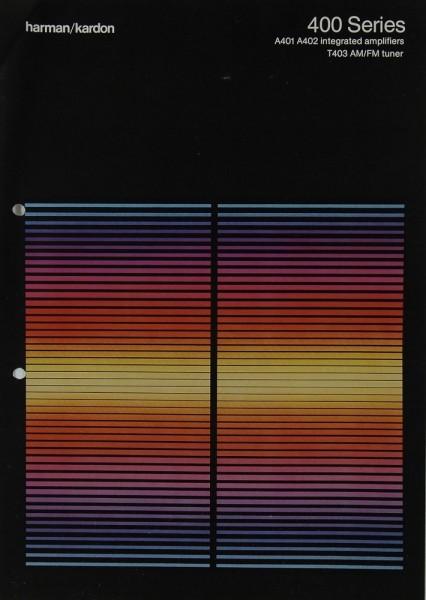 Harman / Kardon 400 Series Prospekt / Katalog