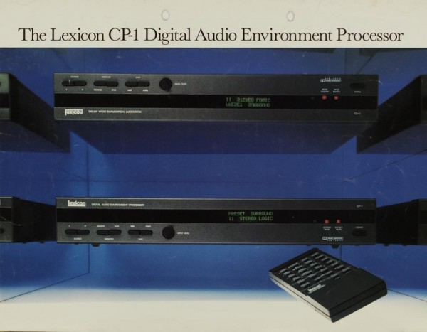 Lexicon The CP-1 Digital Audio Environment Processor Prospekt / Katalog