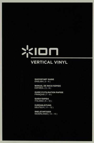 Ion Vertical Vinyl Bedienungsanleitung