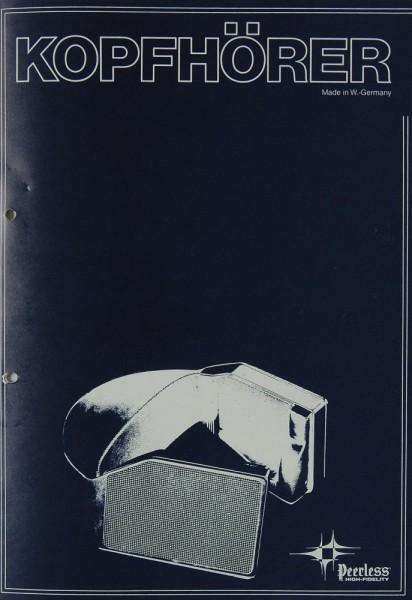 Peerless Kopfhörer Prospekt / Katalog