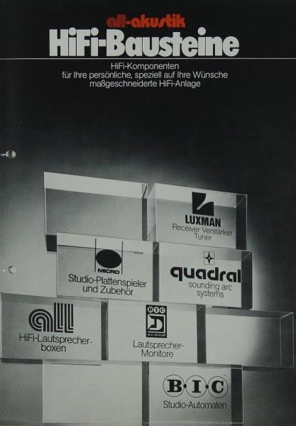 All-Akustik Hifi-Bausteine Prospekt / Katalog