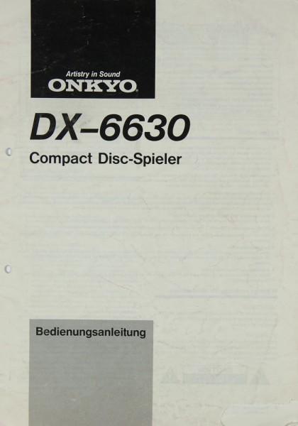 Onkyo DX-6630 Bedienungsanleitung