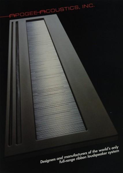 Apogee Apogee-Acoustics, Inc. Prospekt / Katalog