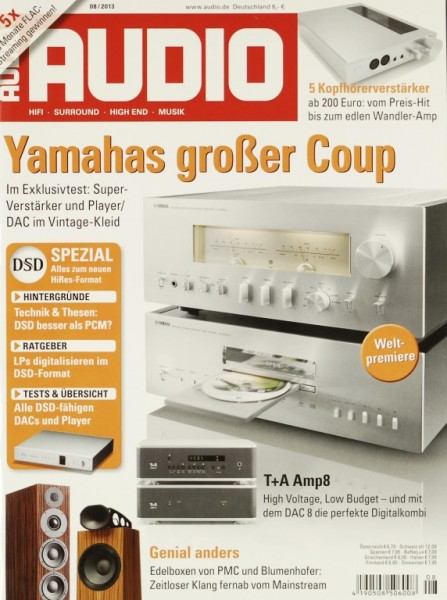 Audio 8/2013 Zeitschrift