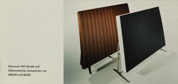 Quda Musikwiedergabe Braun LE 1 / Quad ESL 57 / 63 Prospekt / Katalog