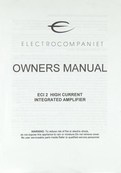 Electrocompaniet ECI 2 Bedienungsanleitung