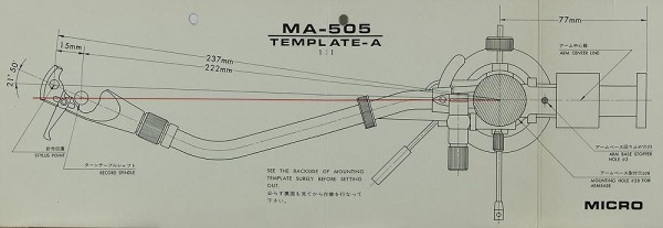 Micro MA-505 / Template-A Justageschablone