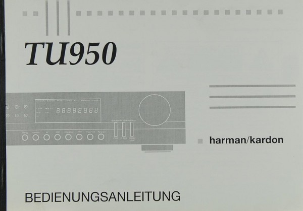 Harman / Kardon TU 950 Bedienungsanleitung