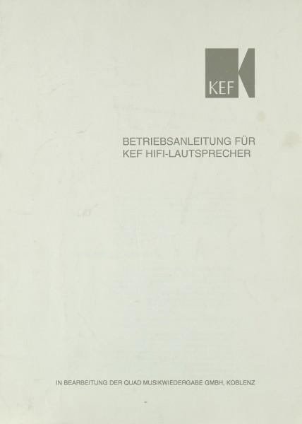 KEF KEF Hifi Lautsprecher Bedienungsanleitung