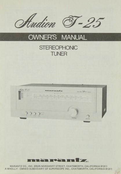 Marantz Audion T-25 Bedienungsanleitung