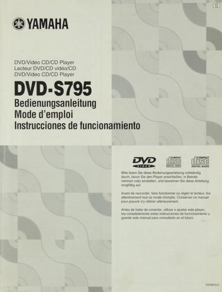 Yamaha DVD-S 795 Bedienungsanleitung