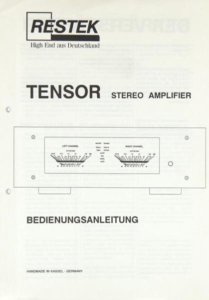 Restek Tensor Bedienungsanleitung