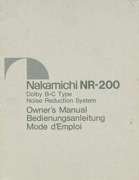 Nakamichi NR-200 Bedienungsanleitung