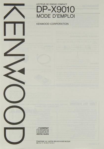Kenwood DP-X 9010 Bedienungsanleitung
