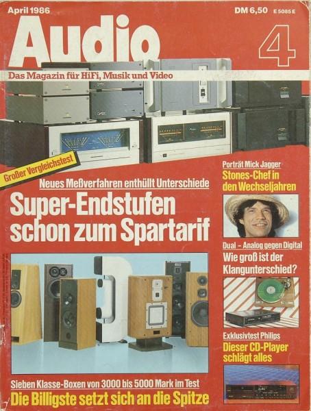 Audio 4/1986 Zeitschrift