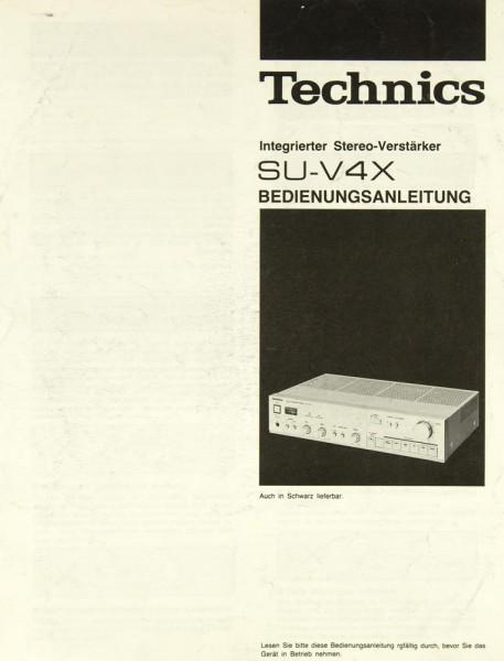 Technics SU-V 4 X Bedienungsanleitung