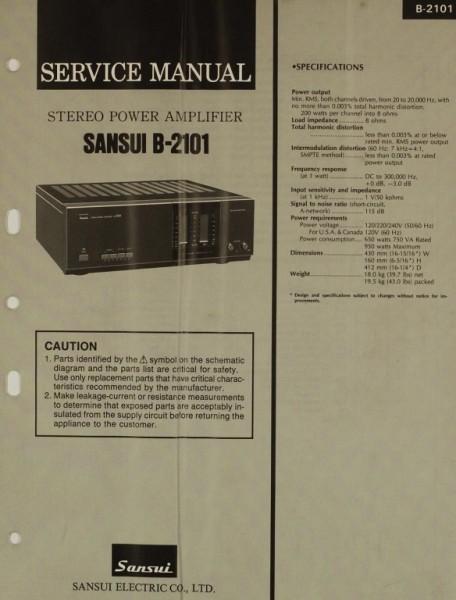 Sansui B-2101 Schaltplan / Serviceunterlagen