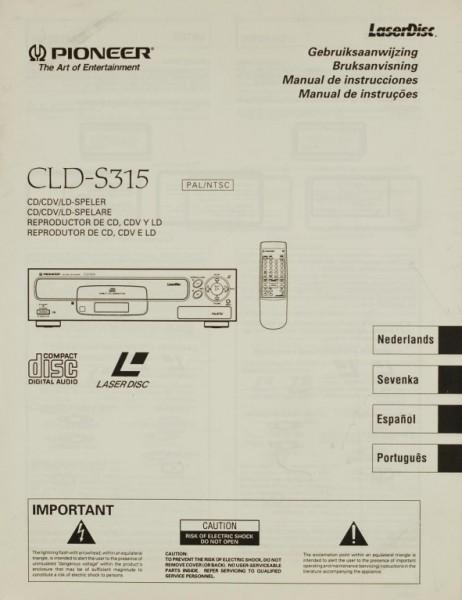 Pioneer CLD-S 315 Bedienungsanleitung