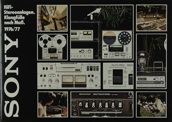Sony 1976/77 Prospekt / Katalog