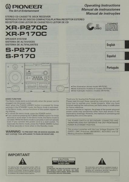 Pioneer XR-P 270 C / XR-P 170 C / S-P 270 / S-P 170 Bedienungsanleitung